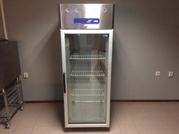 Gebruikte Diamond RVS glazen deur koelkast1