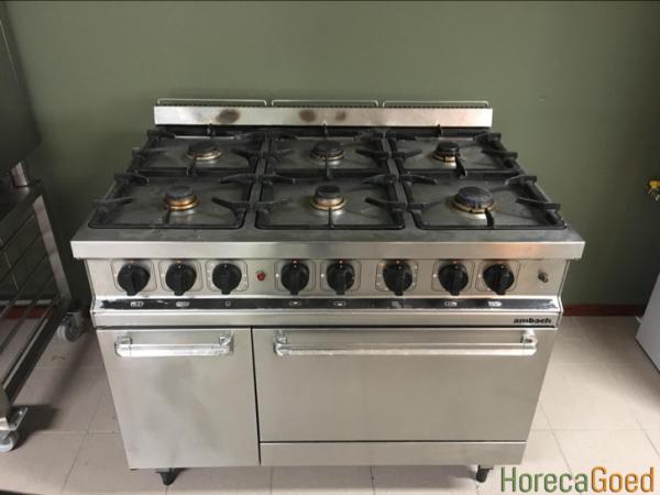 Gebruikte Ambach 6-pits gasfornuis met oven1