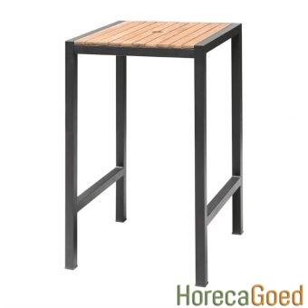 Horeca buiten outdoor meubilair industriële bartafel met barkruk 3