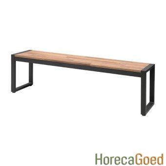 Horeca buiten outdoor meubilair industriële tafel met banken 6