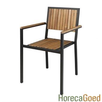 Horeca buiten outdoor meubilair industriële tafel met stoelen 7