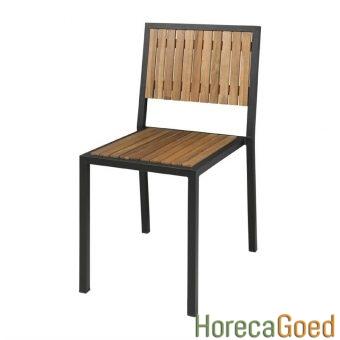 Horeca buiten outdoor meubilair industriële tafel met stoelen 8