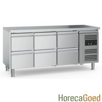 Nieuwe horeca koelwerkbank met lades